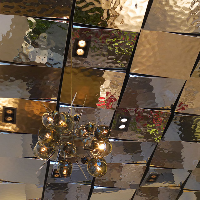 The Quin Hotel in New York City, Rasterdecke in der Lobby, Detail, Unikatserie EXYD-M, Foto EXYD